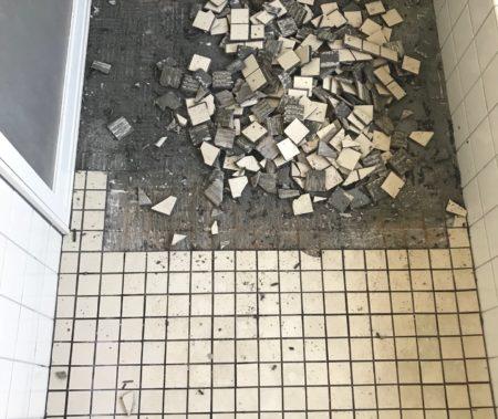 浴室床タイルから簡単リフォーム